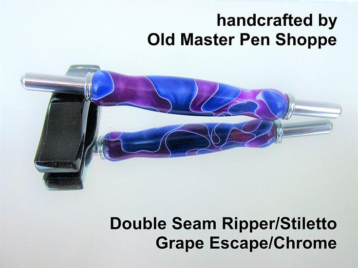 Handmade Grape Escape Seam Ripper/Stiletto with Chrome Plating