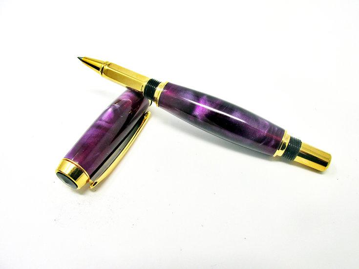 Handmade Iris Baron Rollerball Pen with Titanium Gold Plating