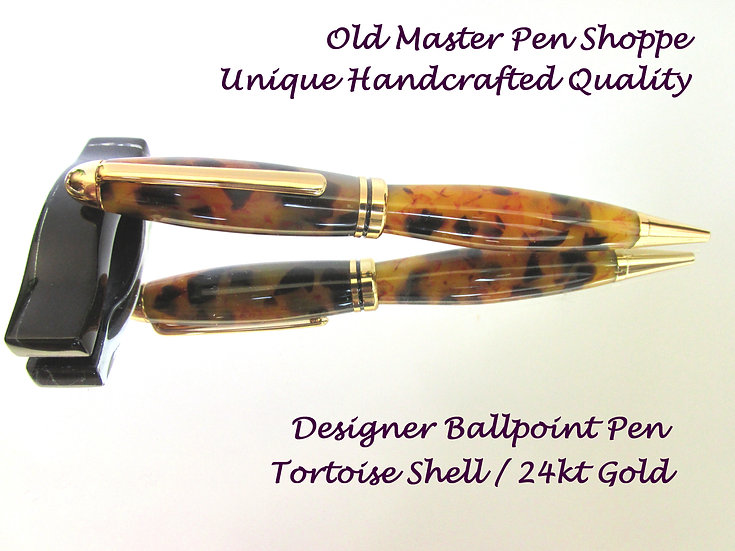 Tortoise Shell  With 24kt Gold Plating