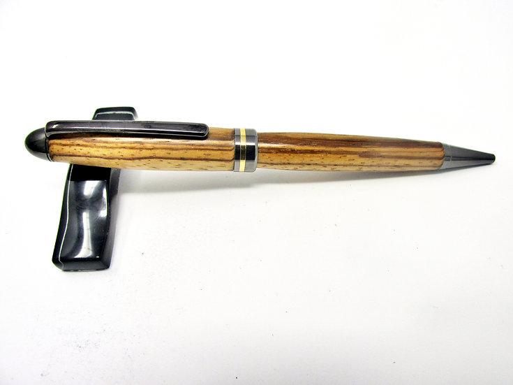 Handmade Zebrawood Designer Ballpoint Pen With Gun Metal Plating