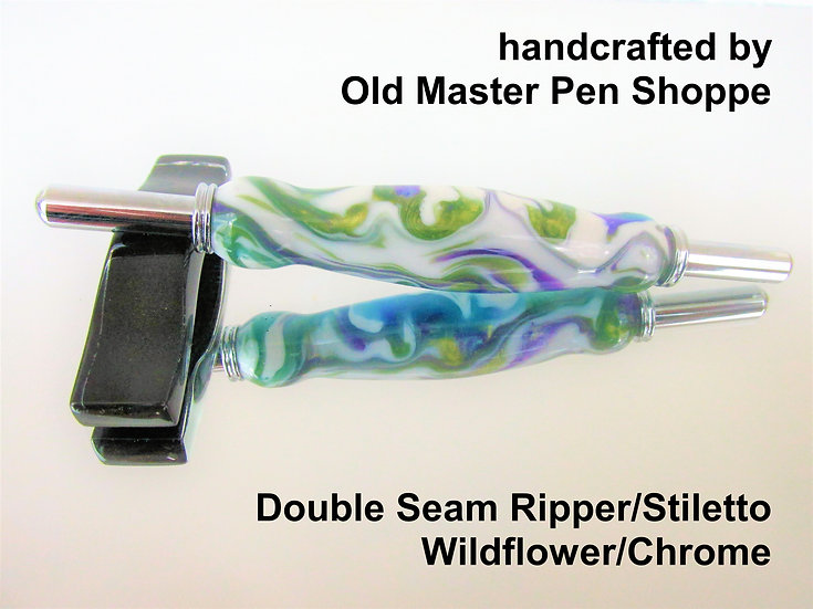 Handmade Wildflower Seam Ripper/Stiletto with Chrome Plating