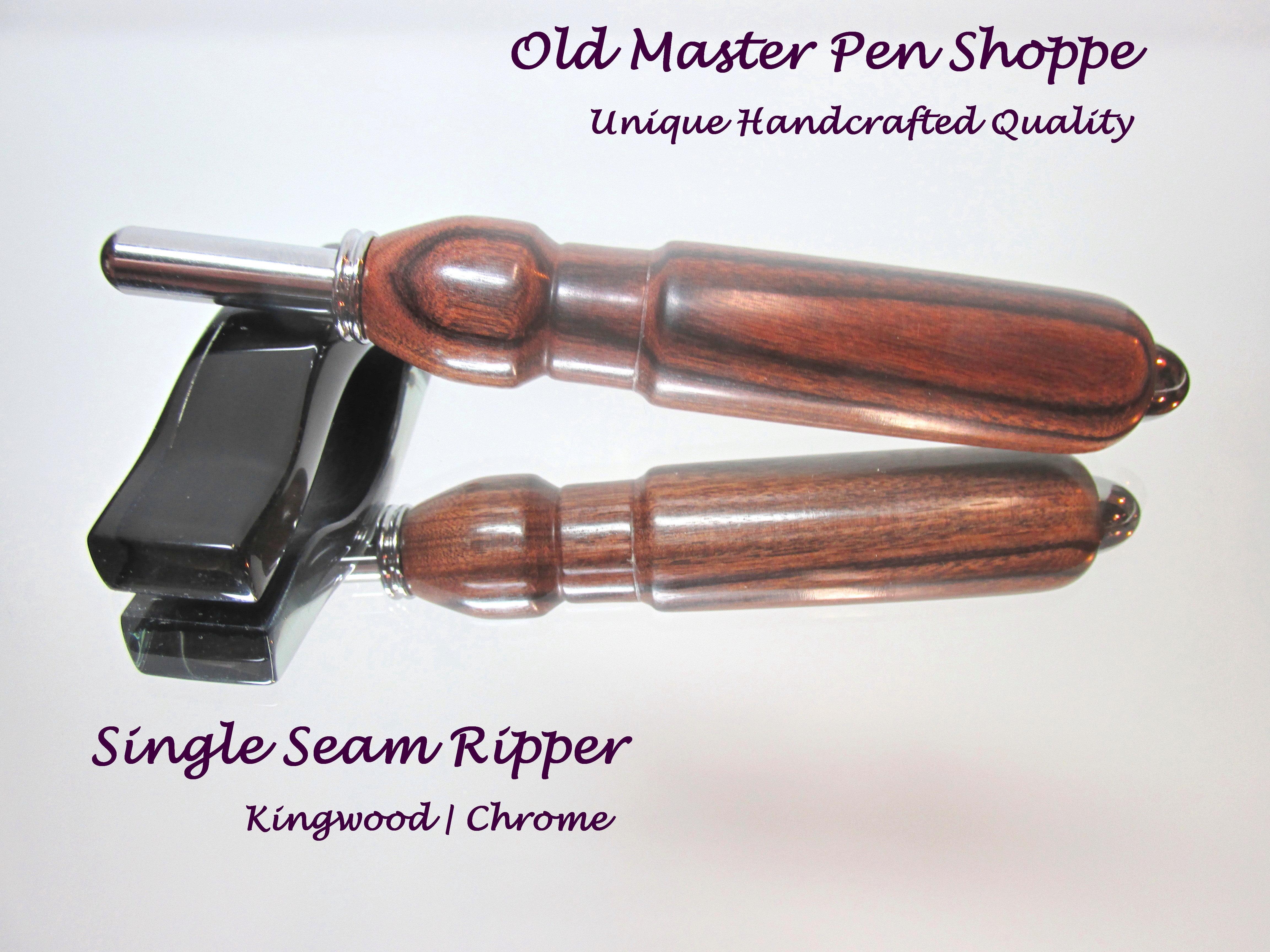 Handmade Kingwood Seam Ripper or Stiletto with Chrome Plating