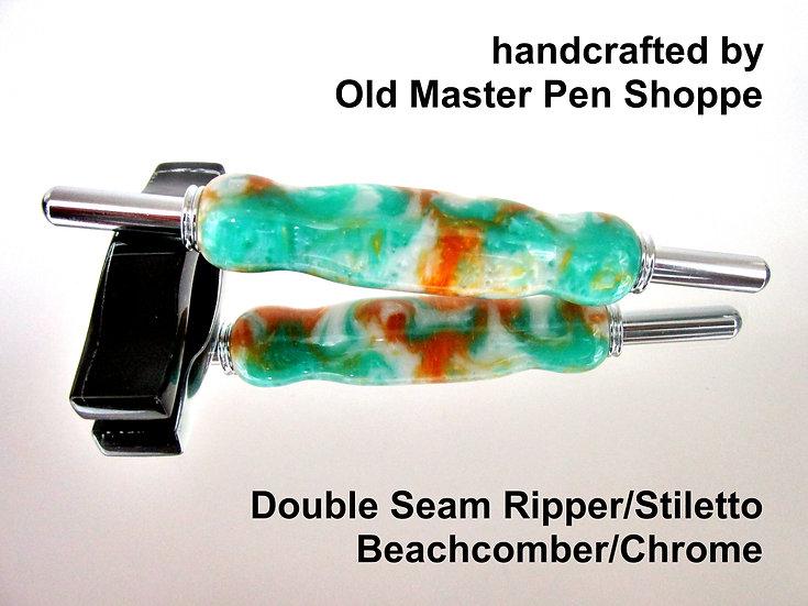 Handmade Beachcomber Seam Ripper/Stiletto with Chrome Plating