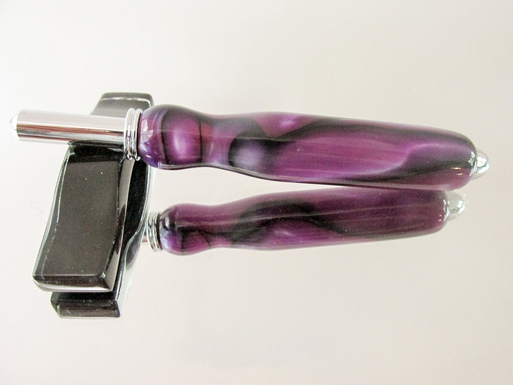 The seam ripper/sewing stiletto is handmade from Saints Row Acrylic Acetate