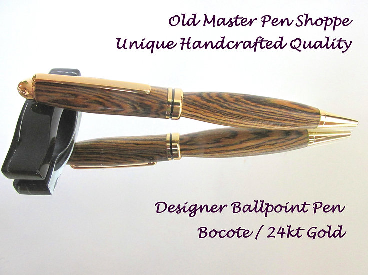 Bocote With 24kt Gold Plating