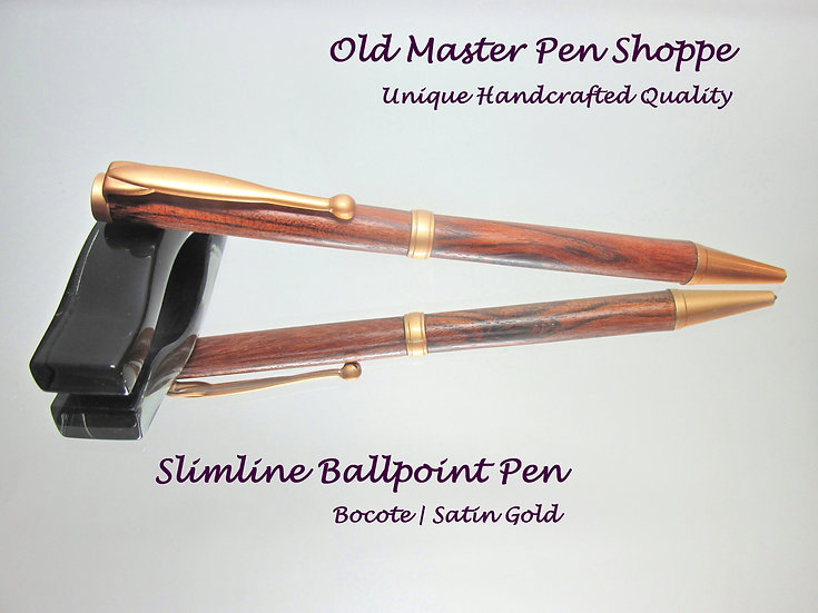 Bocote with Satin Gold Plating