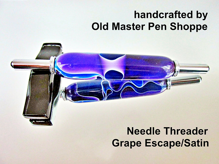 Handmade Grape Escape Needle Threader with Chrome Plating