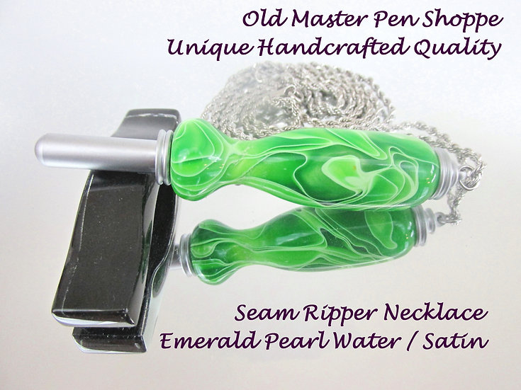 Emerald Pearl Water with Satin Plating