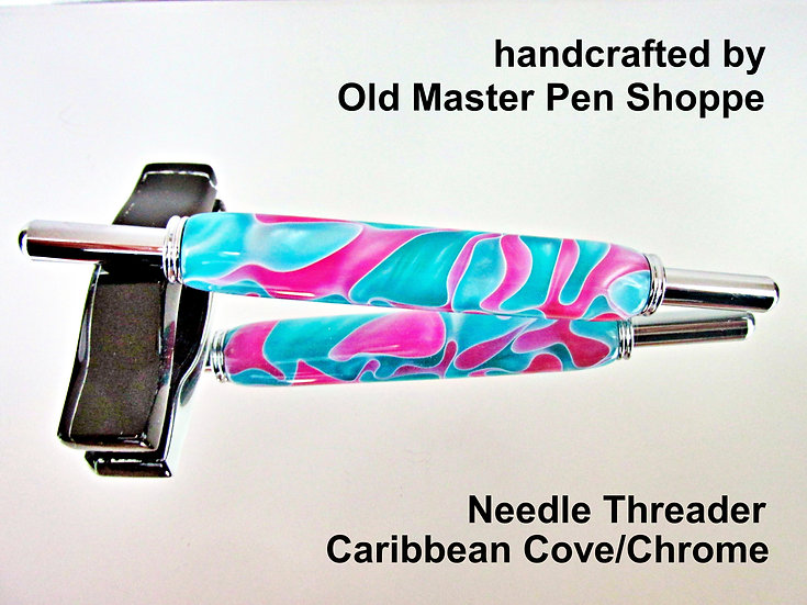 Handmade Caribbean Cove Needle Threader With Chrome Plating