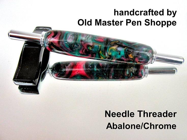 Handmade Abalone Needle Threader With Chrome Plating