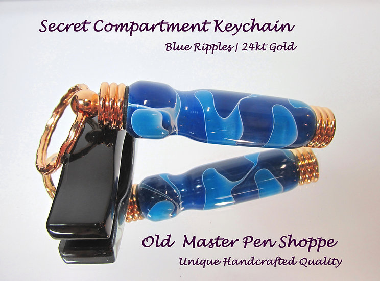 Blue Ripples with 24kt Gold Plating