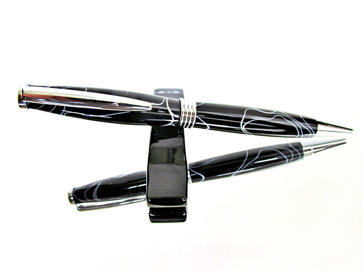 Handmade Lightning Saturn Ballpoint Pen with Chrome Plating