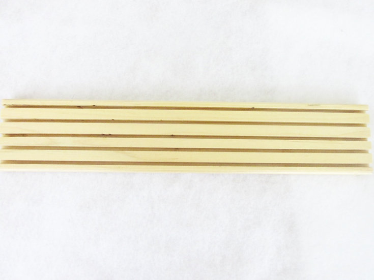 "Handmade Hard Maple 5 Slot 18"" Quilt Ruler Holder"