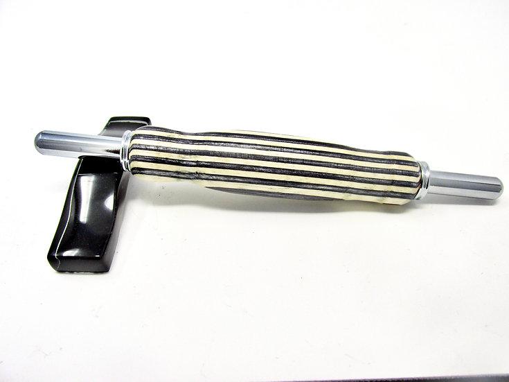 Handmade Flowerwood 19 Double Seam Ripper/Stiletto with Chrome Plating