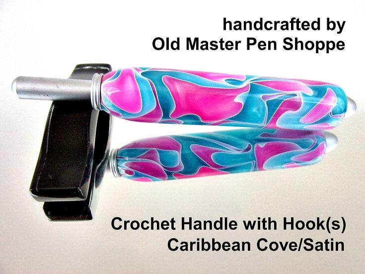 Handmade Caribbean Cove Crochet Hook with Satin Plating