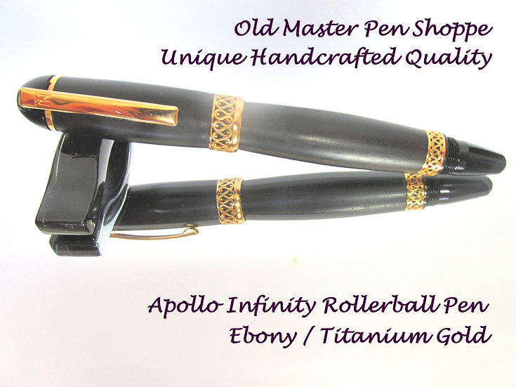 Ebony with Titanium Gold
