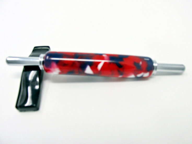 Handmade Patriotic Confetti Needle Threader With Chrome Plating