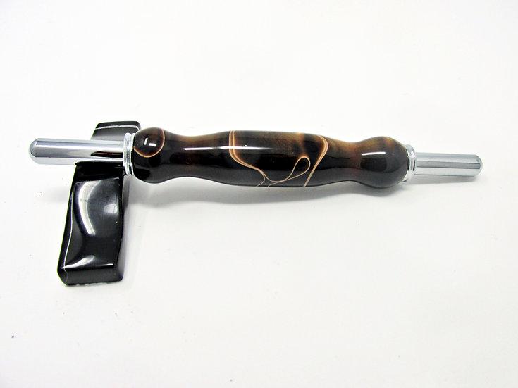 Handmade Copper Swirl Double Seam Ripper/Stiletto with Chrome Plating
