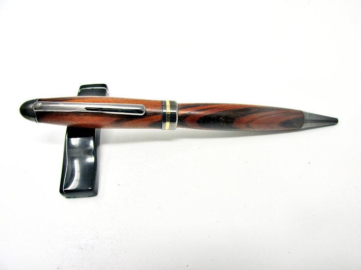 Handmade Goncalo Alves Designer Ballpoint Pen With Gun Metal Plating