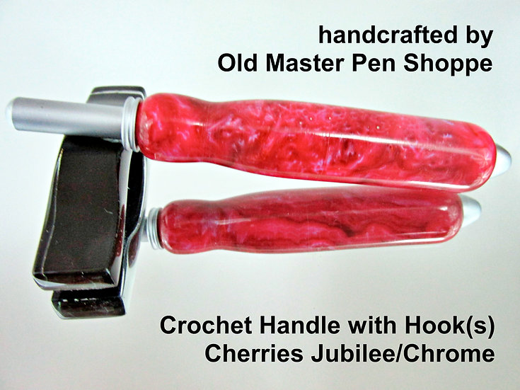 Handmade Cherries Jubilee Crochet Hook with Satin Plating