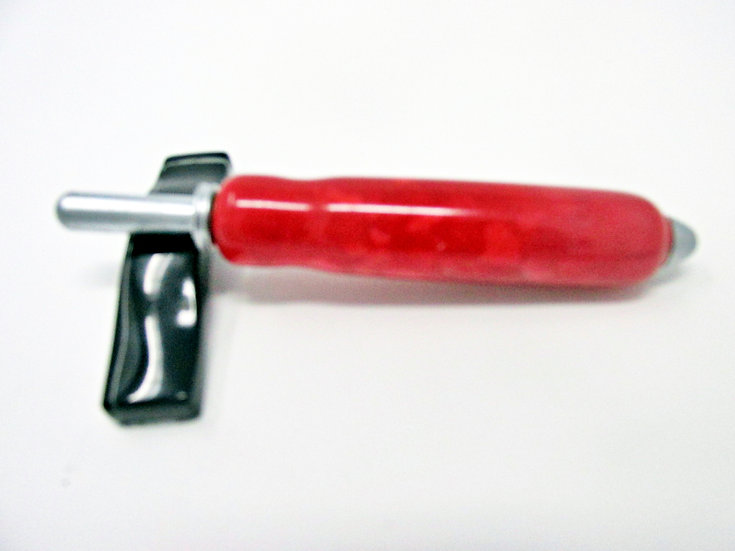 Handmade Crushed Red Crochet Hook with Satin Plating