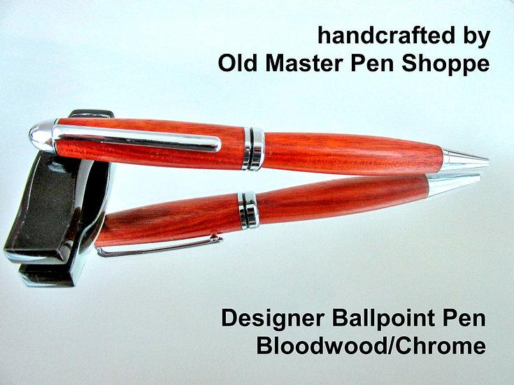 Handmade Bloodwood Designer Ballpoint Pen With Chrome Plating