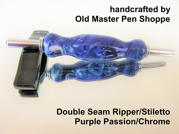 Handmade Purple Passion (NT) Seam Ripper/Stiletto with Chrome Plating
