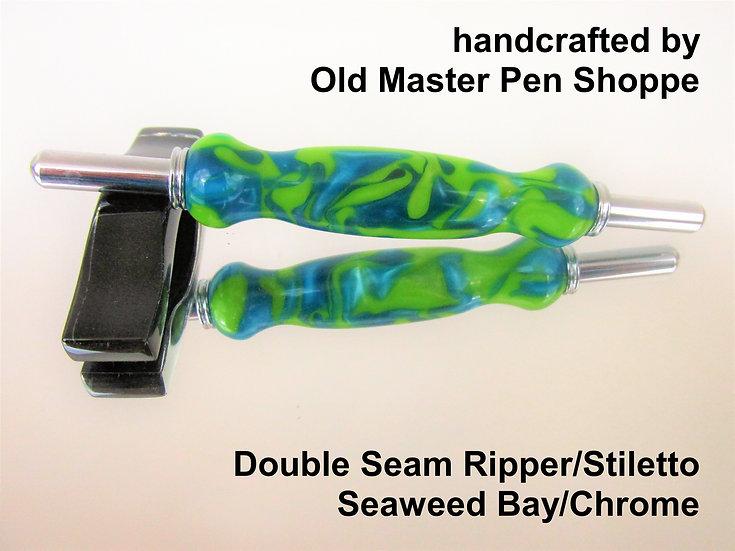Handmade Seaweed Bay Seam Ripper/Stiletto with Chrome Plating