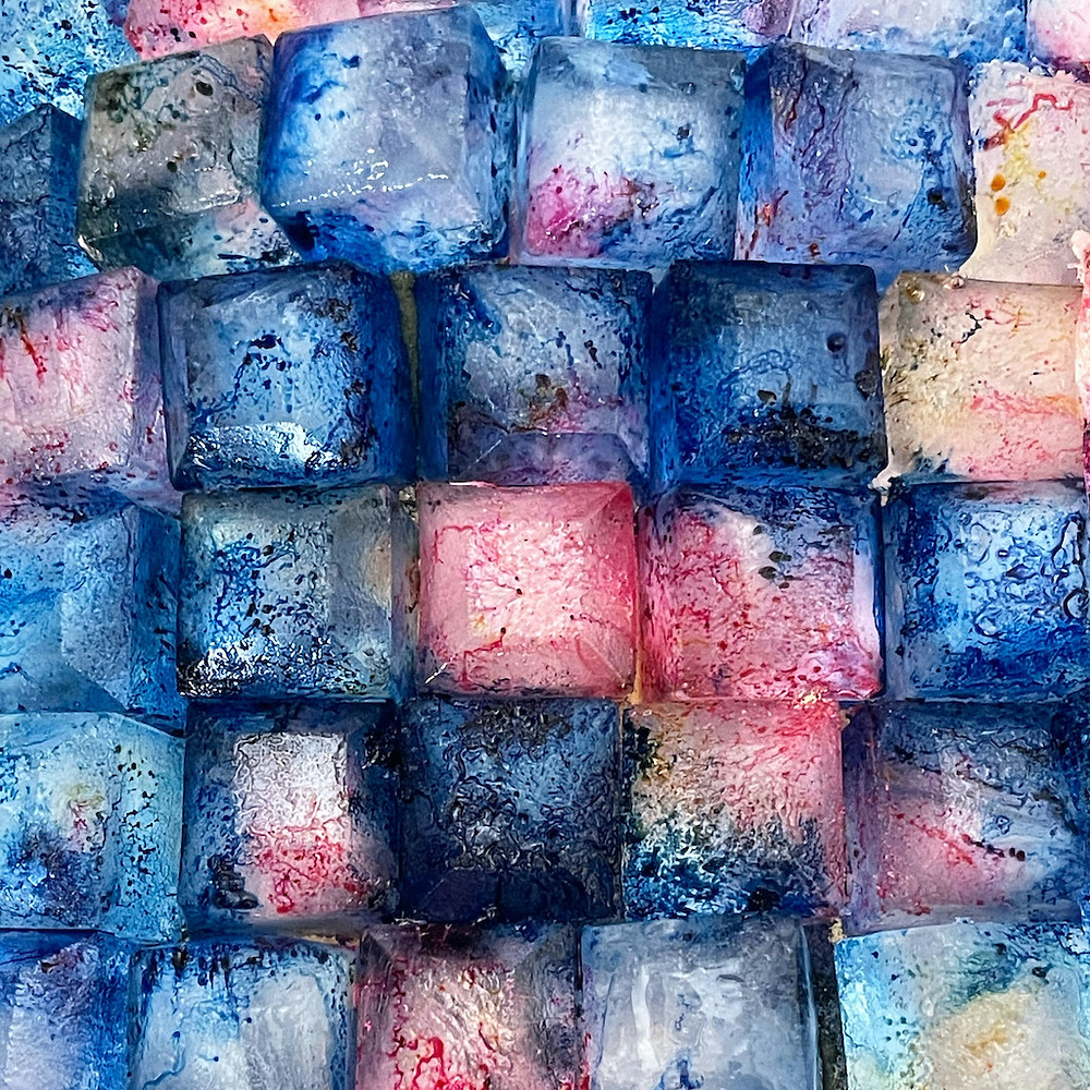 Tinalicious Ice Dye Technik - färben mit Eiswürfeln