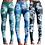 Tie Dye Leggings in Blau/ Blaugrün / Grau handgefärbte Damenleggings von Tinalicious