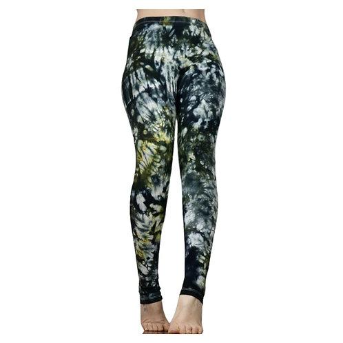 Grau grüne Batik Leggings - deliciouslyMOSS 34/XS-42/XL