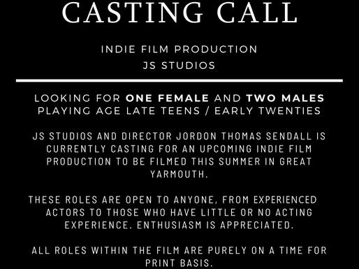 Open Casting Call | The next JS Studios film project