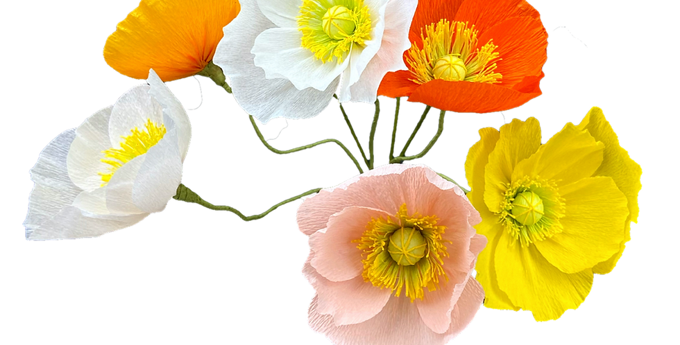 Handcrafted Paper Poppies