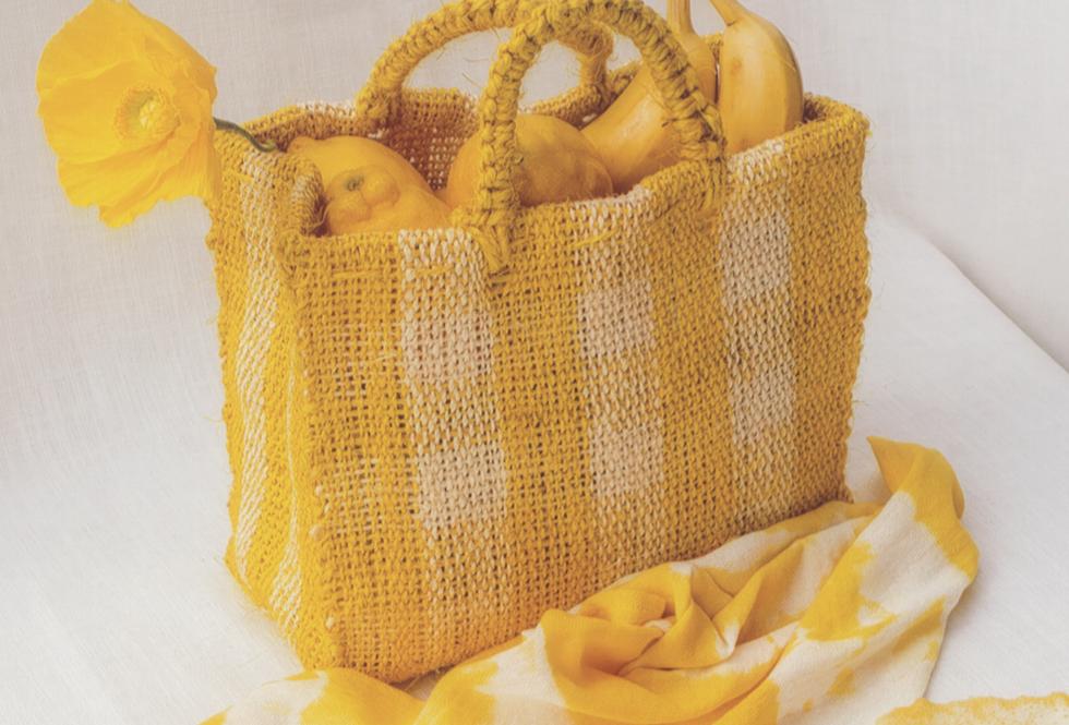 Chequered Bag - Yellow