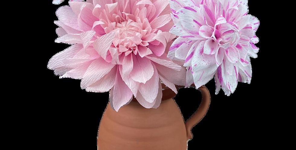 Pink Paper Dahlia