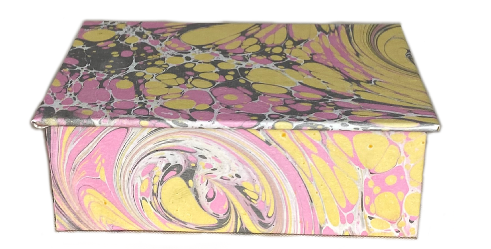Italian Marbled Paper Boxes - Small