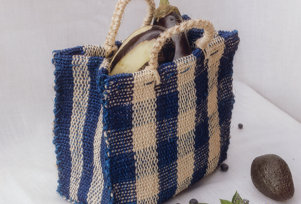 Chequered Bag - Blue
