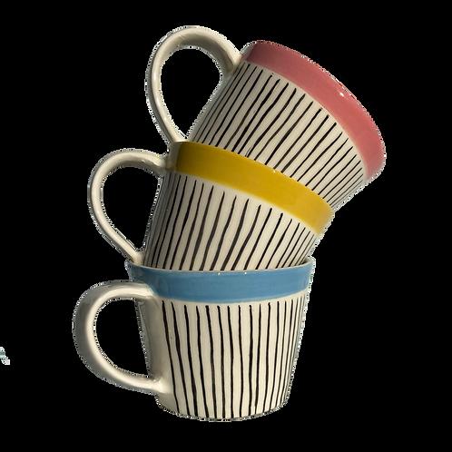 Thin Stripe Coffee Cup (Small)