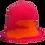 Thumbnail: Hand Knitted Wool Hat - Pink & Orange
