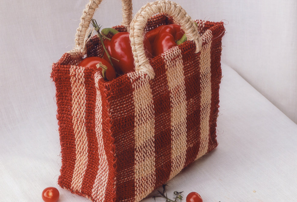 Chequered Bag - Red
