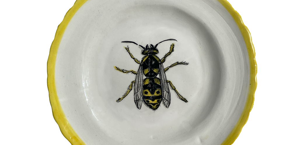 Hand Painted Side Plate - Queen Bee