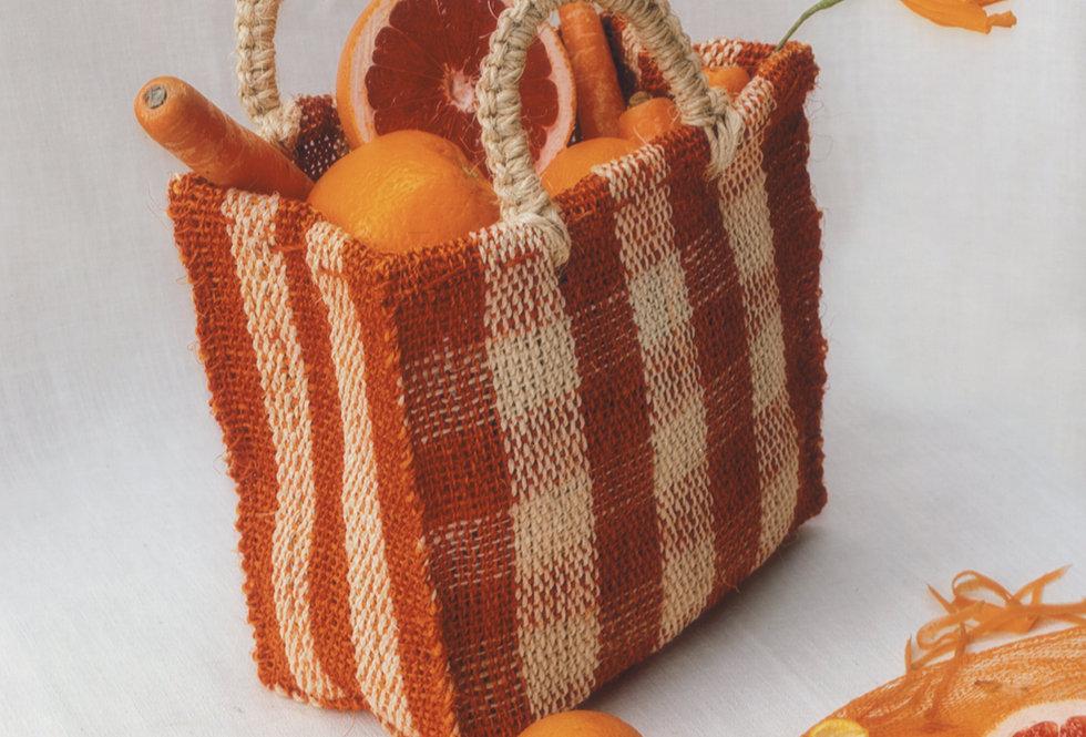 Chequered Bag - Orange