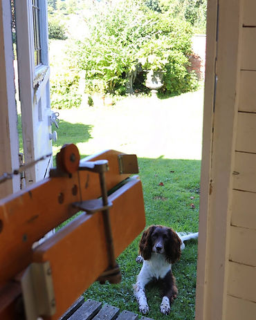 Weaving studio in the Forest of Dean