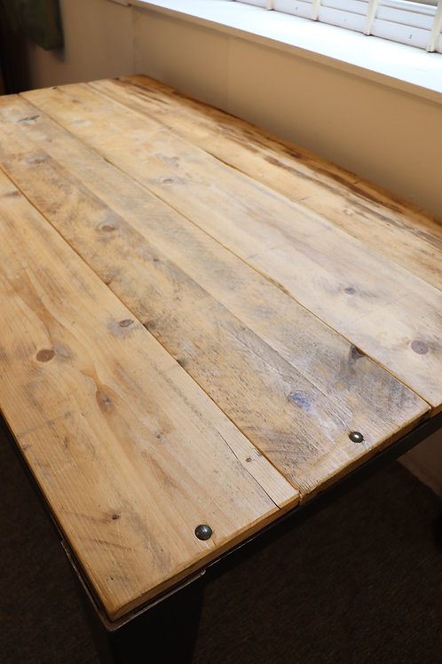 Reclaimed board dining table
