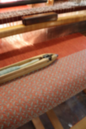 handwoven bespoke fabric woven on a floor loom with a shuttle using lambswool