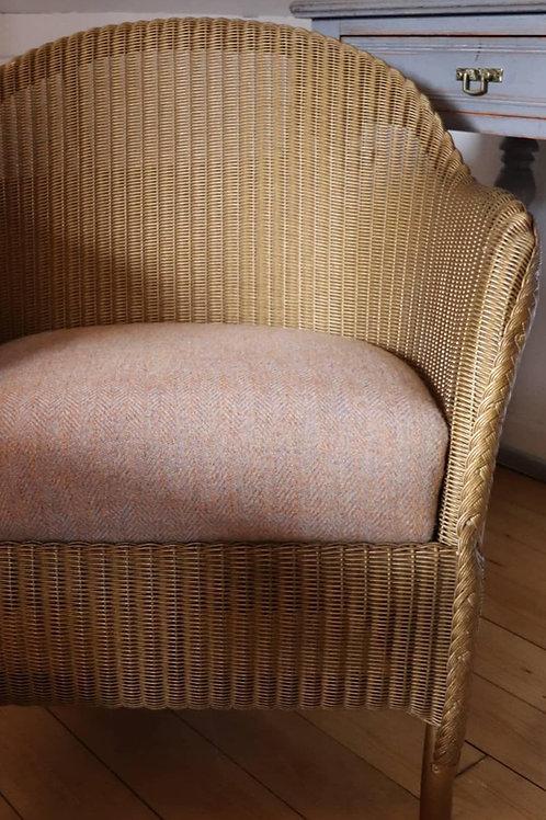 Reupholstered Lloyd loom chair