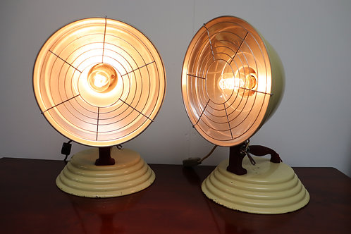 pair of 1960's barber health lamps