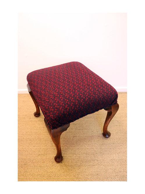 Upholstered Queen Anne Leg Stool