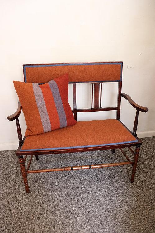 Edwardian reupholstered settee