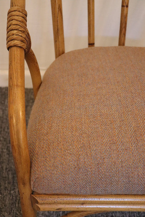Reupholstered Bamboo chair
